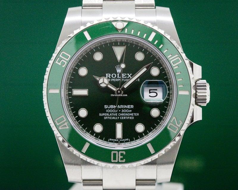 rolex 116610lv submariner green ceramic bezel green dial for