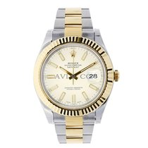 Rolex DATEJUST II 41mm 18K Yellow Gold Bezel Ivory Dial