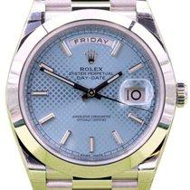 Rolex Day-Date 40 228206-BLUSP Ice Blue Diagonal Motif Index...