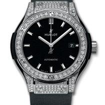 Hublot Classic Fusion 33mm Titanium Diamond Pave Automatic Watch