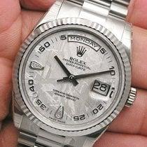 Rolex Day-date President 118239 Mens 18k White Gold Meteorite...