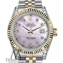 Rolex Pink Pearl Rolex 36mm Datejust 18k Gold Stainless Steel...