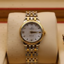 Omega 424.20.27.60.05.001  De Ville Ladies Gold & Stl  MOP...