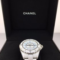 Chanel J12 38mm Automatic White Ceramic Light Blue Dial...