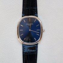 Patek Philippe Golden Ellipse Platinum Case Blue Dial Watch