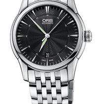 Oris Artelier Date Black Dial Steel Bracelet