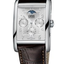 Oris Rectangular Complication, Brown Leather Bracelet