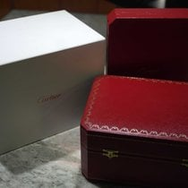 Cartier vintage red leather watch and jewelry box CO000039 new