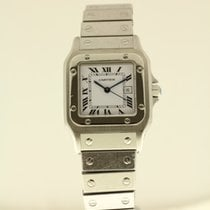 Cartier Santos Galbee LM with B + P serviced for € 878,-...