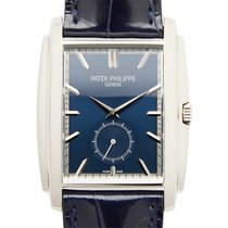 百達翡麗 (Patek Philippe) Gondolo 18k Platinum Dark Blue Manual...