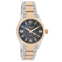 Longines Conquest Classic Mens GMT Automatic Watch L2.799.5.56.7