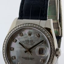 Rolex Datejust 36mm 18k White Gold Mother of Pearl &...