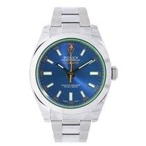 ロレックス (Rolex) MILGAUSS Green Sapphire Crystal Z-Blue Dial