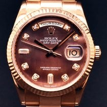 Rolex Day Date Rose Gold with diamonds full set