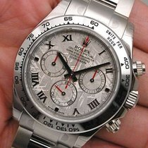 Rolex Cosmograph Daytona 116509 Mens 18k White Gold Meteorite...