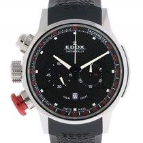 Edox WRC Chronorally Chronograph Stahl Carbon Kautschuk Quarz...