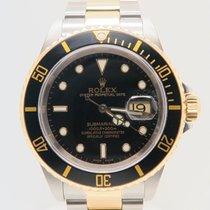 Rolex Submariner Date Black Dial Ref. 16613 (Running Gold Clasp)
