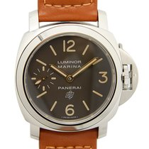 Panerai New  Luminor Stainless Steel Dark Brown Manual Wind...