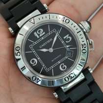 Cartier Pasha Seatimer 40.5mm Stainless Steel Rubber W31077u2