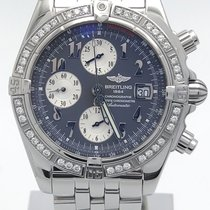 Breitling Chronomat Evolution A13356 Gray Dial Custom Diamond...