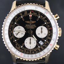 Breitling Navitimer Pink Gold Leather Strap, 42MM Full Set...
