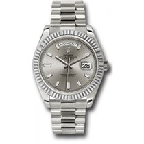 Rolex Day-Date 40 228239 18K White Gold 40MM Silver Dial, 10...