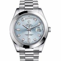 Rolex Day-Date II ice blue Diamond dial LIKE NEW
