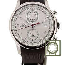 IWC Portuguese Yacht Club Chronograph Silver Luminous Dial NEW