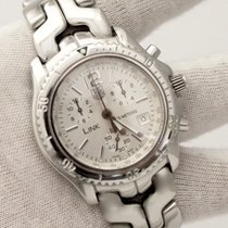 TAG Heuer Link Quartz Chronograph Stainless Silver Dial 43mm...