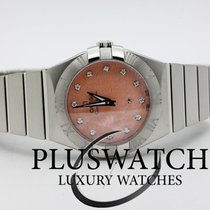 Omega Constellation Quartz 27mm Diamonds Pink Dial G