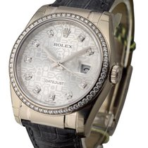 Rolex Used 116189_silver_jubilee_dd Datejust 36mm White Gold...