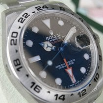Rolex Explorer Ii 216570 Mens Stainless Steel Black Dial 24...