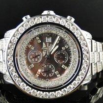 Breitling Mens Breitling Super Avenger 1 Row Big 53 Mm Diamond...