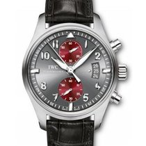 IWC IW387810 Pilot Chronograph Mens 43mm Automatic in Steel -...