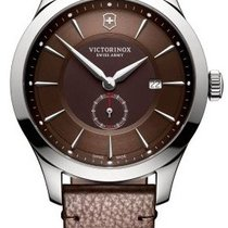 Victorinox Swiss Army ALLIANCE Leather Brown Strap Dial Brown...