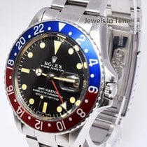 Rolex Rare Vintage GMT-MASTER Steel Pepsi Red/Blue 1967 GMT...