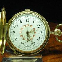 Heures & Quarts 14kt Gold Savonette Taschenuhr Chronograph...