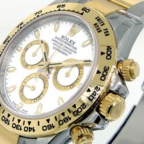 Rolex Daytona 116503 Steel Gold Two Tone White Dial Oyster...