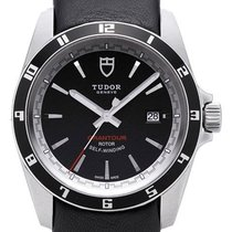 Tudor Grantour Date 20500N Zifferblatt Schwarz / Lederband...