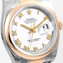 Rolex Steel & Gold 36mm Datejust White Roman Oyster 116203...