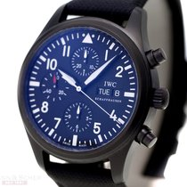 IWC Fliegerchronograph Ref-371701 Stainless Steel DLC Coating...