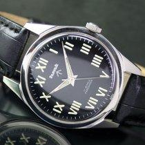 HMT Military Winding Black Radium Roman Index Steel Mens Watch
