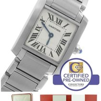 Cartier Tank Francaise Stainless Steel Roman Quartz Watch 2384