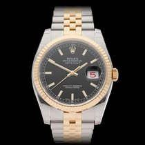 Rolex Datejust Stainless Steel & 18k Yellow Gold Gents 116233