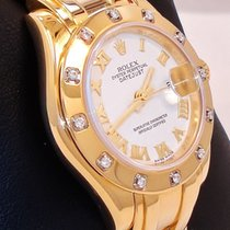 Rolex Ladies Masterpiece 18k Yellow Gold Factory 12 Diamond...