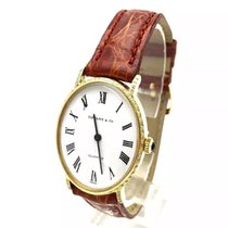 Tiffany & Co. 18k Yellow Gold Ladies Watch W/ Diamonds...
