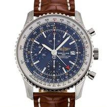 Breitling Navitimer World 46 Chronograph Blue Dial Brown...