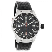 TAG Heuer Aquaracer Mens Black Swiss Automatic Watch WAJ2119.F...
