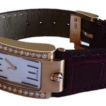 Movado Elliptica 18K Rose Gold Diamond Ladies Watch