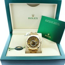 Rolex Mens Solid 18k Yellow Gold Sky Dweller Champagne Dial...